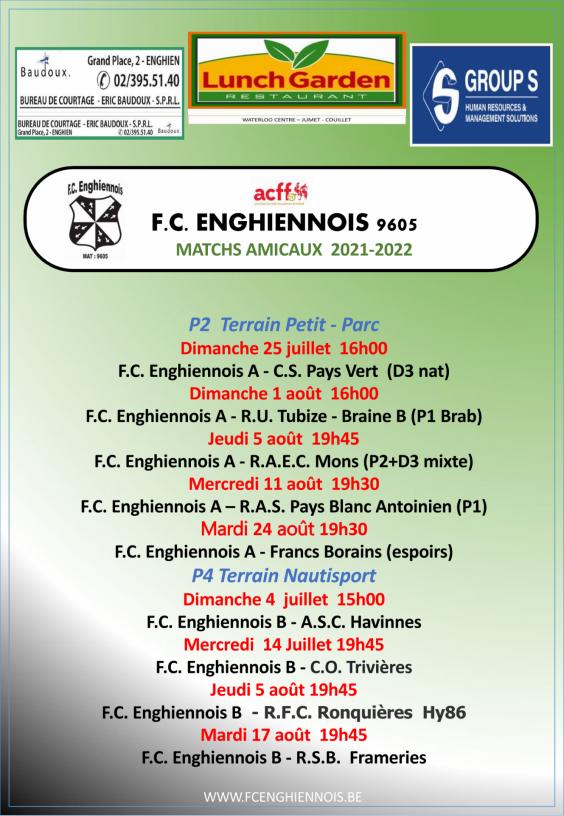 Match amicaux affiches 27 juin page 1