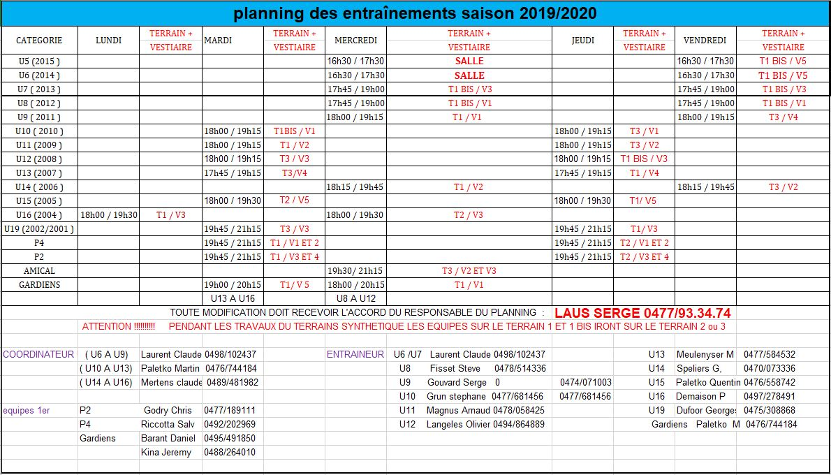 Planning 30 aout